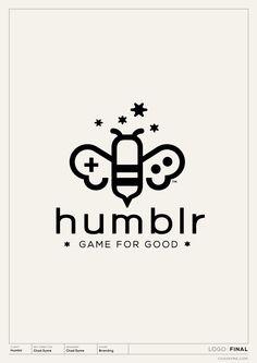 Logo for mobile gaming non-profit start-up Humblr | Designer: Chad Syme #logo #logomark