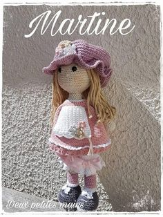 Martine Patron crochet PDF, inspired by Sarah Kay, available in French and English Crochet Dolls Free Patterns, Crochet Doll Pattern, Doll Patterns, Crochet Doll Clothes, Knitted Dolls, Diy Pencil, Crochet Animals, Crochet Toys, Patron Crochet