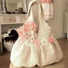 tejidos a crochet bolsos y carteras ile ilgili görsel sonucu Crochet Tote, Crochet Handbags, Crochet Purses, Knit Or Crochet, Crochet Crafts, Crochet Stitches, Crochet Projects, Crochet Patterns, Knitted Bags