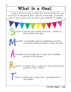 GOAL SETTING FOR YOUNG PEOPLE: AN INTERACTIVE GUIDE FOR SETTING SMART GOALS - TeachersPayTeachers.com