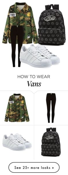 say what by stephenyonthedot on Polyvore featuring adidas Originals and Vans