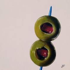 Two Olives Study, painting by artist Jelaine Faunce