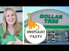 DOLLAR TREE   Dinosaur Birthday Party - YouTube