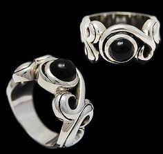 Vine Black Star 925 Sterling Silver US Size 10 25 Biker Rocker Gothic Ring | eBay