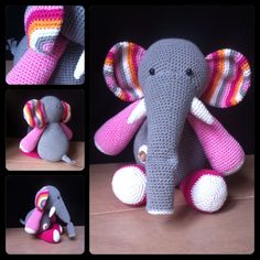Ollie olifant naar een patroon van stipenhaak