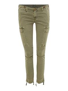 Rowan Slouchy Skinny Crop Cargo Jean...