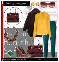 Stylish work wear outfit for Deep Autumn