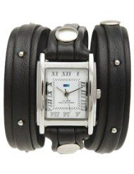 La Mer Stud Layer Wrap Watch - Women's Black/Silver Stud, One Size,http://www.amazon.com/La-Mer-Stud-Layer-Watch/dp/B009QLPAGS/watches0906-20/