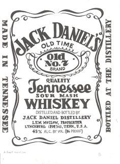 white jack daniels logo - - Yahoo Search Results | party ...
