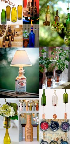 Recycle your old glass bottles :) make something funky for the home :)