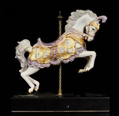 one of the Cybis Anniversary designs issued in sculptures actually produced during that year bear the special stamp Design No: Collection: Carousel Size: W Carrousel, Art Du Cirque, Carosel Horse, Horse Braiding, Homemade Wedding Gifts, Horse Artwork, Unicorn Horse, Wooden Horse, Painted Pony