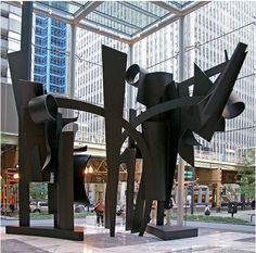 Dawn Shadows (Louise Nevelson) 200 W Madison St. Madison Plaza building (northwest corner of West Madison Street and North Wells Street) Chicago Sculpture, Louise Nevelson, Lifestyle News, North West, Fighter Jets, Street, Wells, Shadows, Dawn