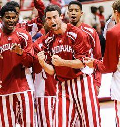 Will Sheehey #0 with Teammates #HoosierNation          #IUCollegeBasketball