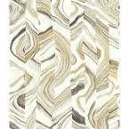 Agate Stripe Wallpaper, Beiges