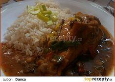 Krůtí křídla v pikantní houbové omáčce recept - TopRecepty.cz Grains, Rice, Food, Essen, Meals, Seeds, Yemek, Laughter, Jim Rice