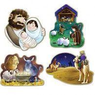 Cutouts Nativity Pkt4 $14.95 BE22270