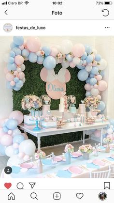 Throwback to this vintage Minnie/Mickey theme birthday for precious Olivia and little Nicholas! 💘 Design/Set-up/Venue: Photography: Cakes: Sweets: Florals: Backdrop/Cake Toppers: Balloons: Donuts: Deco Baby Shower, Shower Party, Baby Shower Themes, Baby Shower Decorations, Baby Showers, Birthday Party Decorations, 1st Birthday Parties, Party Themes, Party Ideas