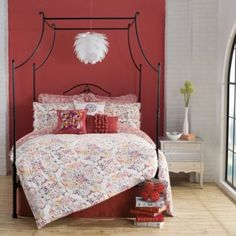 Minus the butterfly pillow :P   Anthology™ Zenya Reversible Comforter Set - BedBathandBeyond.com
