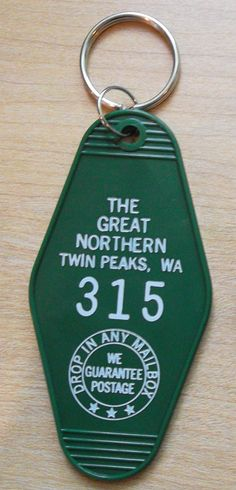 This is a high quality 2 sided limited edition Great Northern hotel from Twin Peaks Key chain. Room 315 the one Agent Cooper stayed in, non