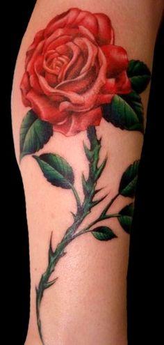 Rose Tattoo by John Fitzgerald #Tattoos #Rose #RoseTattoo http://tattoopics.org/rose-tattoo-by-john-fitzgerald/