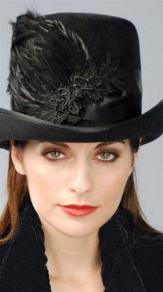 Louise Green Chatham riding hat from Victorian Trading co.