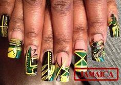 Jamaica nail art