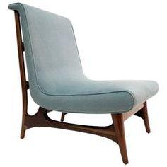 Unique and Stylized Lounge Chair, Attributed to Eugenio Escudero, circa 1955