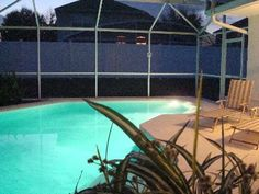 Relax by the pool at this #disney #vacation @HomeAway  http://www.homeaway.com/vacation-rental/p236453