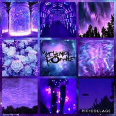 My Chemical Romance Moodboard - inspiration in center