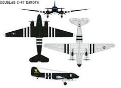 Image result for Douglas DC3 Drawing
