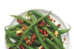 Honey-Mustard Green Beans With Pecans