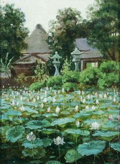 "Theodore Wores (1859-1939)  - ""The Garden of Buddha"", oil on canvas Private collection"