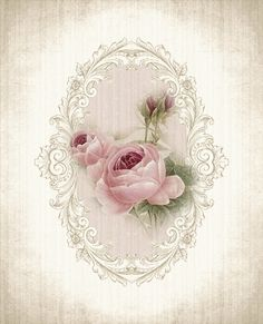 Vintage rose printable - beautiful