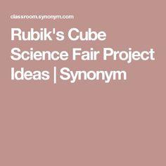 Rubik's Cube Science Fair Project Ideas   Synonym