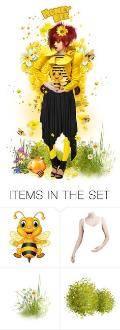"""""""A Honey Of A Bumble Bee"""" by victorianheaven ❤ liked on Polyvore featuring art"""