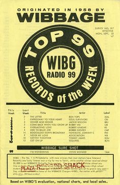 Top 10 Records of the Week, Sept. 25, 1967, at WIBG Radio 99 (Philadelphia)
