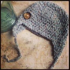 Multicolor Repurposed Sweater Earflap Baby Hat