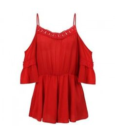✩❤RED OFF SHOLDER PLAYSUIT IBIZA STYLE❤✩
