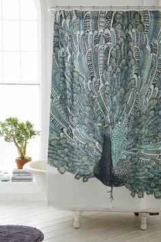 Magical Thinking Pavo Peacock Shower Curtain by Urban Outfitters