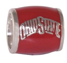 OHIO STATE ON RED BEAD