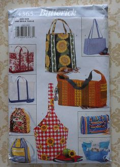 Tote bags Sewing Pattern