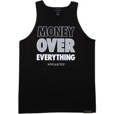 Sneaktip Money Over Everything tank top in black