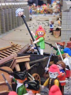 Playmobil custom par Alizobil Diorama Playmobil de coudekerque La bastille en playmobil