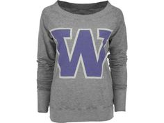 Washington Huskies NCAA Womens Boat Crew Sweatshirt