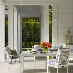 A beautiful hamptons style outdoor pavilion. Image from #elledecor