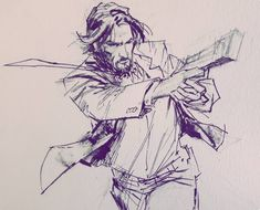 John Wick ink and pencils by Todor Hristov artist Baba Yaga, Pose Reference, Drawing Reference, Art Sketches, Art Drawings, John Wick Movie, Character Art, Character Design, Keanu Reeves John Wick
