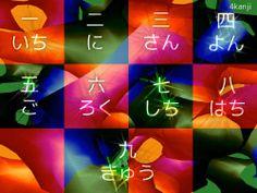 Kanji Desktop Wallpaper - Numbers 1 to 9 in Kanji