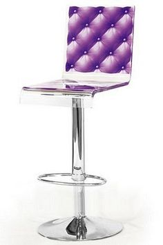 Mathi Design purple and acrylic bar stool. MATHI DESIGN · Tabourets 4209bc5fc2a9