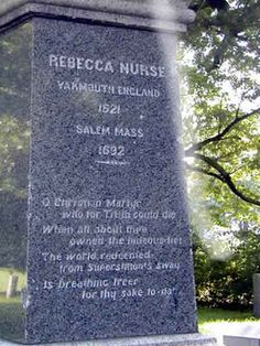 Salem Mass    Ron & I walked all over the Rebecca Nurse property and cemetary back in the 90's....super educational