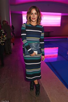 Fashionista: Caroline once again impressed on the style front as she attended the press night after-party for The Libertine at the Haymarket Hotel on Tuesday Caroline Flack Style, Haymarket Hotel, The Libertines, Tv Presenters, Cute Beauty, Jeeps, Dark Hair, Mail Online, Daily Mail